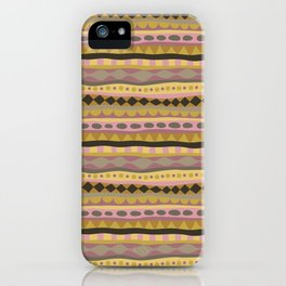 Stripey-Earthy Colors iPhone Case