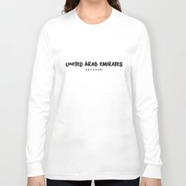 Abu Dhabi x UAE Long Sleeve T-shirt