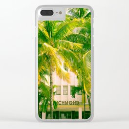 Art Deco Miami Beach #17 Clear iPhone Case