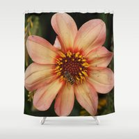 bee Shower Curtains featuring Bee by Vanessa Antonina