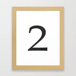Number 2 (Black) Framed Art Print