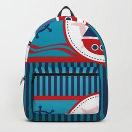 Cool Blue Sailboat Background Backpack