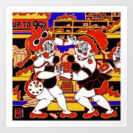 Bedlam: Konsumo Wrestling Art Print