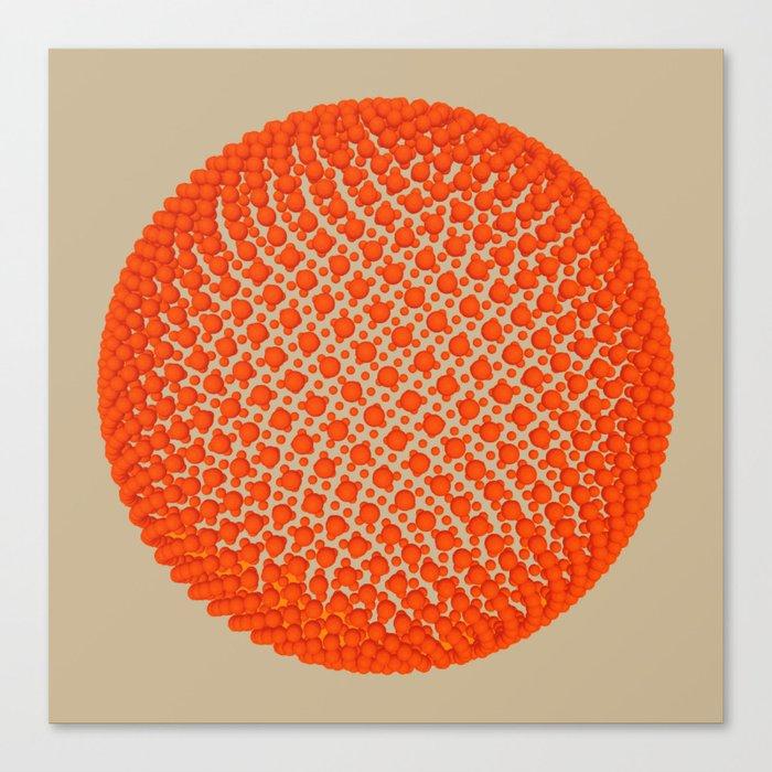 Fibo Orb (red) Canvas Print