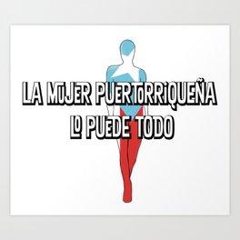 La mujer Puertorriquena Art Print