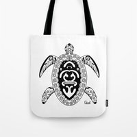 tortoise Tote Bags featuring Tortoise by ceceï