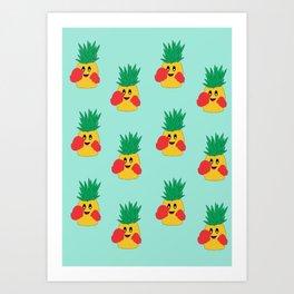 Pineapple punch Art Print