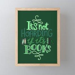 Hoarding Books - Green Framed Mini Art Print