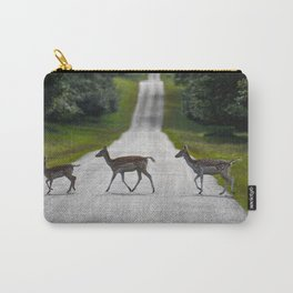 Deer crossing the road Carry-All Pouch