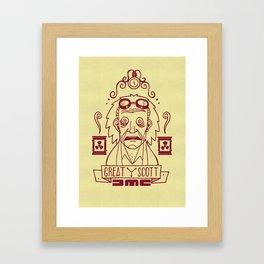 Great Scott - Emmet Brown Framed Art Print