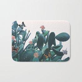 Cactus & Flowers - Follow your butterflies Bath Mat