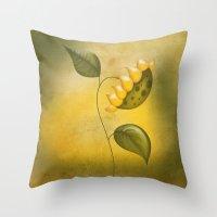 sunflower Throw Pillows featuring Sunflower by flamenco72