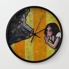 Shh, piggy! Wall Clock