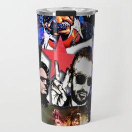 Famous Icons from Einstein to Bono Travel Mug