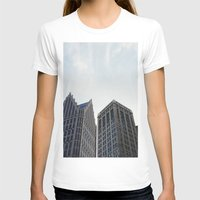 detroit T-shirts featuring Downtown Detroit by Michelle & Chris Gerard