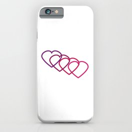 Interlocking Purple Hearts iPhone Case