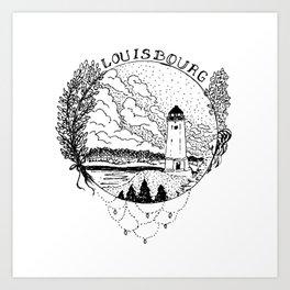 Louisbourg Lighthouse Art Print