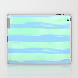 Trendy Stripes Blue Raspberry + Mint Meringue Laptop & iPad Skin