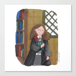 Hermione at the library Canvas Print