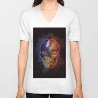 war V-neck T-shirts featuring War by XANTHIER