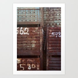 Stacked Containers Art Print