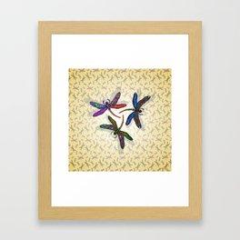 DRAGONFLY CIRCLE 2 Framed Art Print