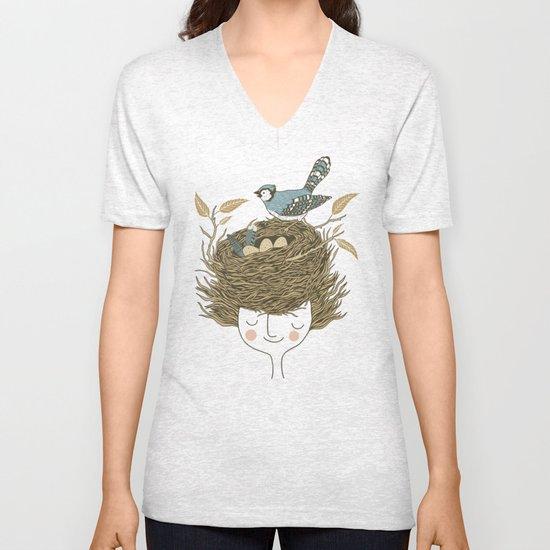 Bird Hair Day Unisex V-Neck