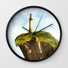 At the End of the Earth Wall Clock