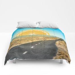 Orange Sunrise Comforters