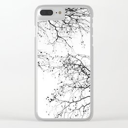 BLACK BRANCHES 2 Clear iPhone Case