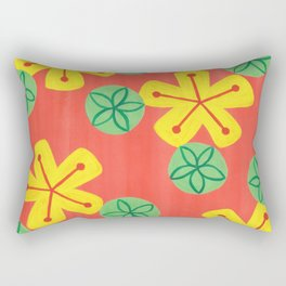 Retro Bright Floral Rectangular Pillow