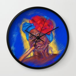 Cigar Woman Wall Clock