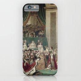 The Coronation of Napoleon and Josephine - Jacques-Louis David iPhone Case