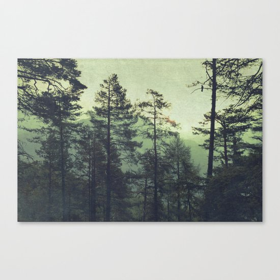 the wind was the only sound Canvas Print