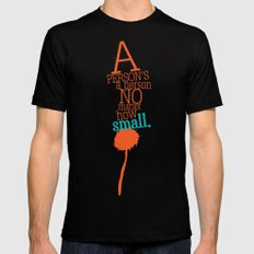 a person's a person no matter how small LARGE Mens Fitted Tee Black