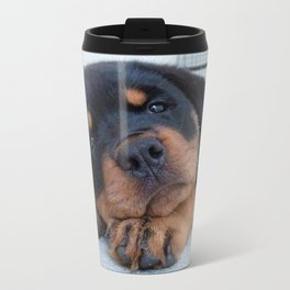 Riley  🐾  The Rottweiler Puppy  🐾 Travel Mug