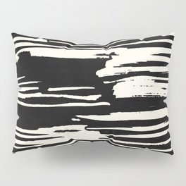 Modern Tribal Stripe Ivory and Black Pillow Sham