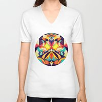 poetry V-neck T-shirts featuring Poetry Geometry by Anai Greog