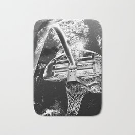 Black And White Basketball Art Bath Mat