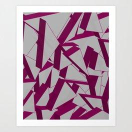 3D Broken Glass IV Art Print