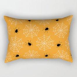 Halloween Spider Web Seamless Pattern Rectangular Pillow
