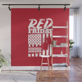 Red Friday American Military Wall Mural