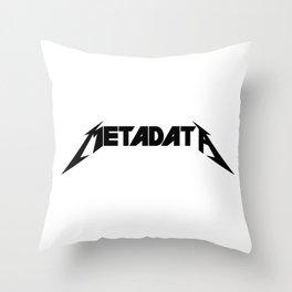 Metadata - Black Edition Throw Pillow