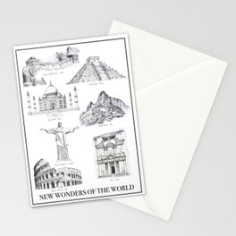 The New Wonders of the World Stationery Cards