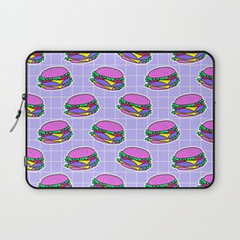 Psychedelic burger / Blue Grid Laptop Sleeve