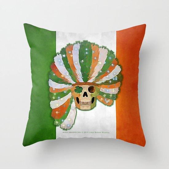 IRISH-AMERICAN 021 Throw Pillow