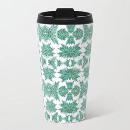 Jungle rhythm - retro inspired palm tree print Travel Mug