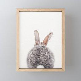 Bunny Tail, Bunny Rabbit, Baby Animals Art Print By Synplus Framed Mini Art Print