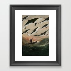 Minke Whale Migration Framed Art Print