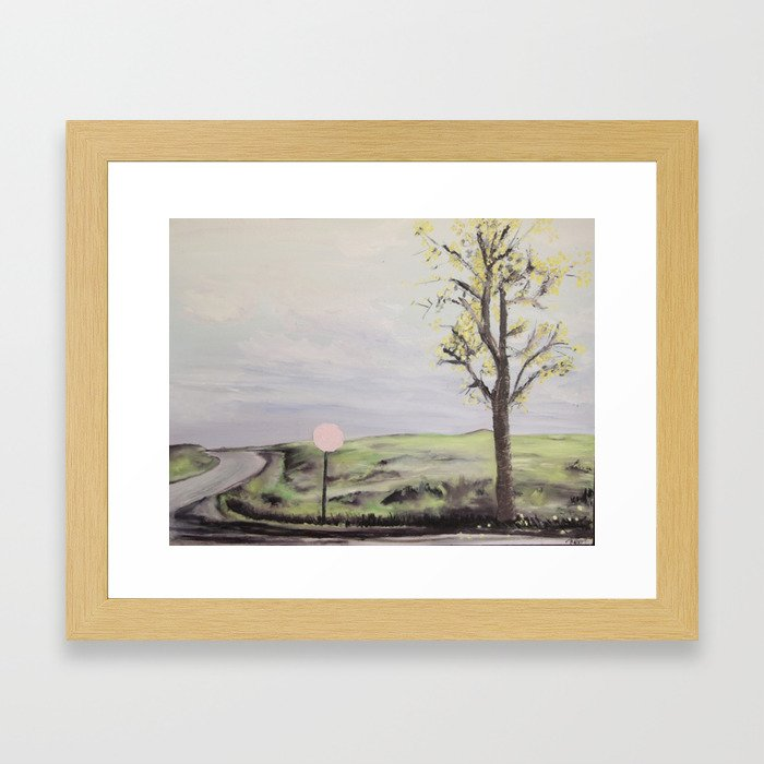 where the dark doors of our dreams are always wide open Framed Art Print